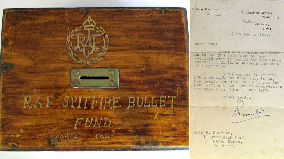 Spitfire fund box and thank you