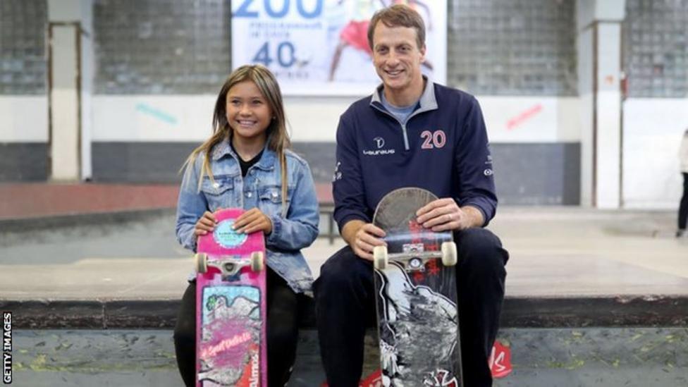 與美國滑板傳奇人物托尼·霍克