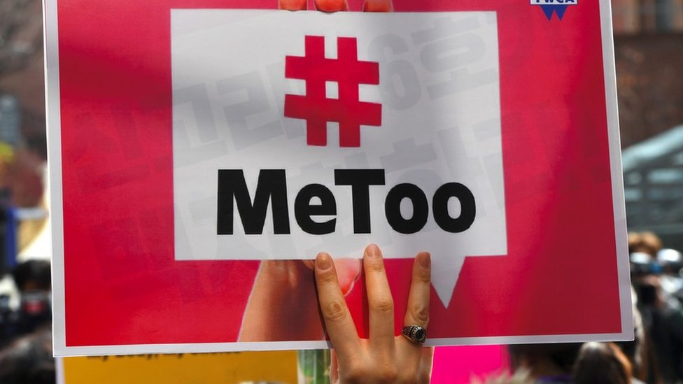 Sign saying MeToo from Seoul in 2018