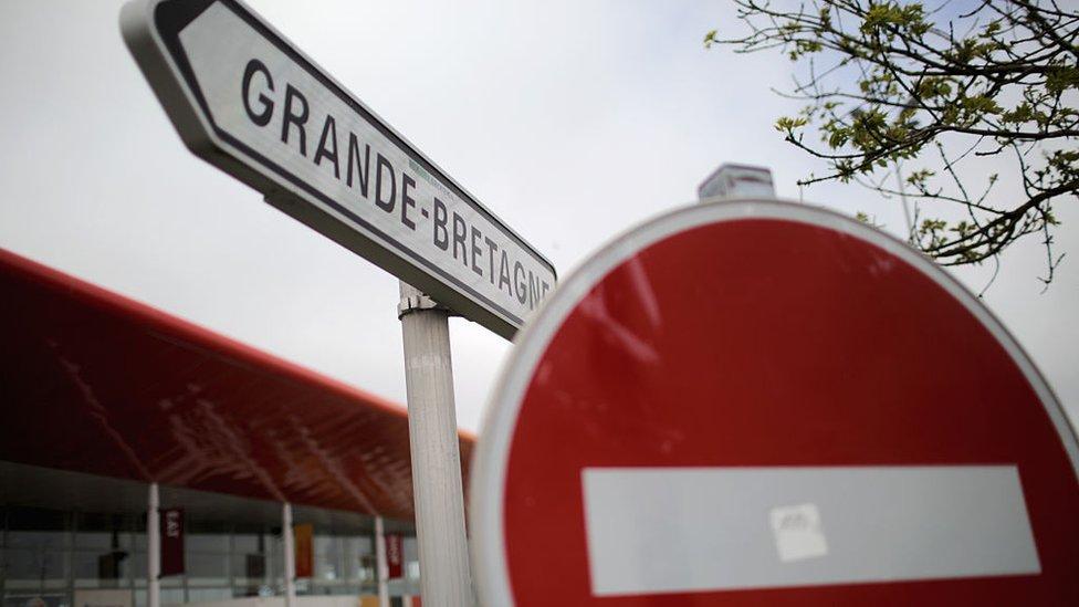 Sign at Calais