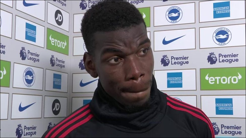 Brighton 3-2 Man Utd: Paul Pogba questions United's attitude