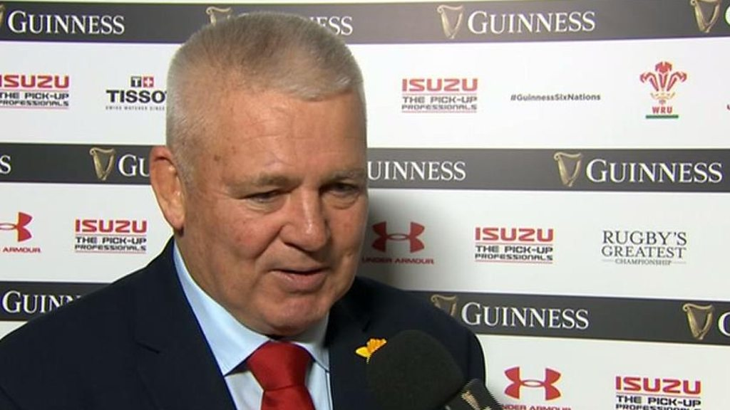 'England didn't put us under any pressure' - Wales coach Gatland
