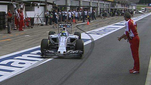 Felipe Massa and Maurizio Arrivabene