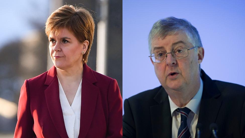 Nicola Sturgeon and Mark Drakeford