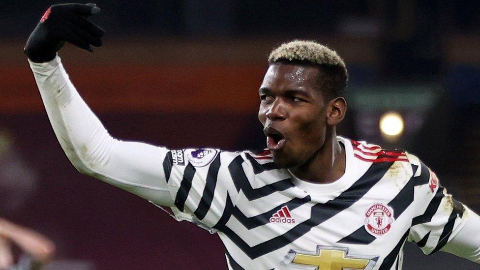 Paul Pogba amefunga goli la ushindi dhidi ya ya Burnley na kuipeleka Manchester United kileleni.