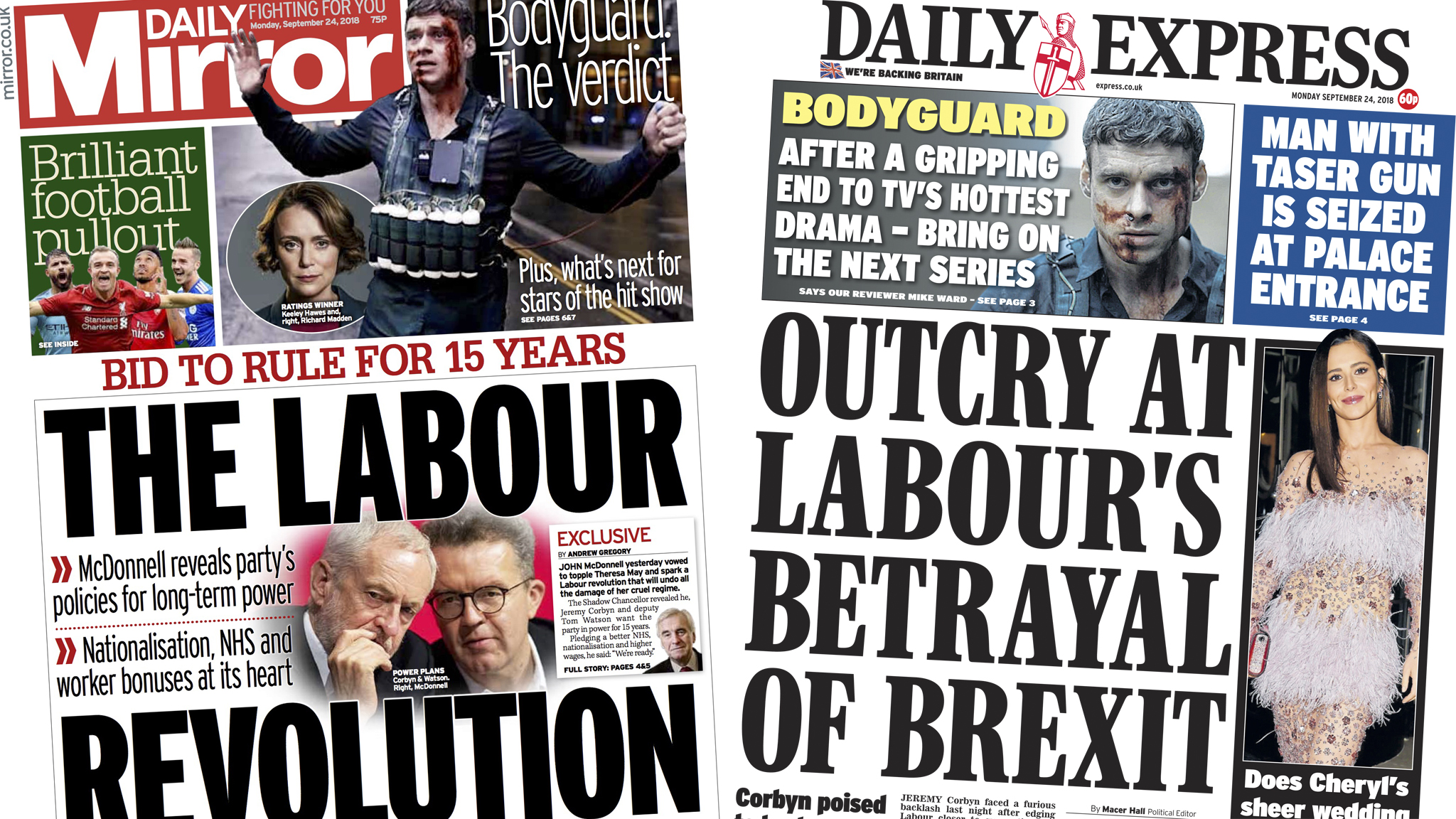 The Papers: Labour revolution, or Brexit betrayal?