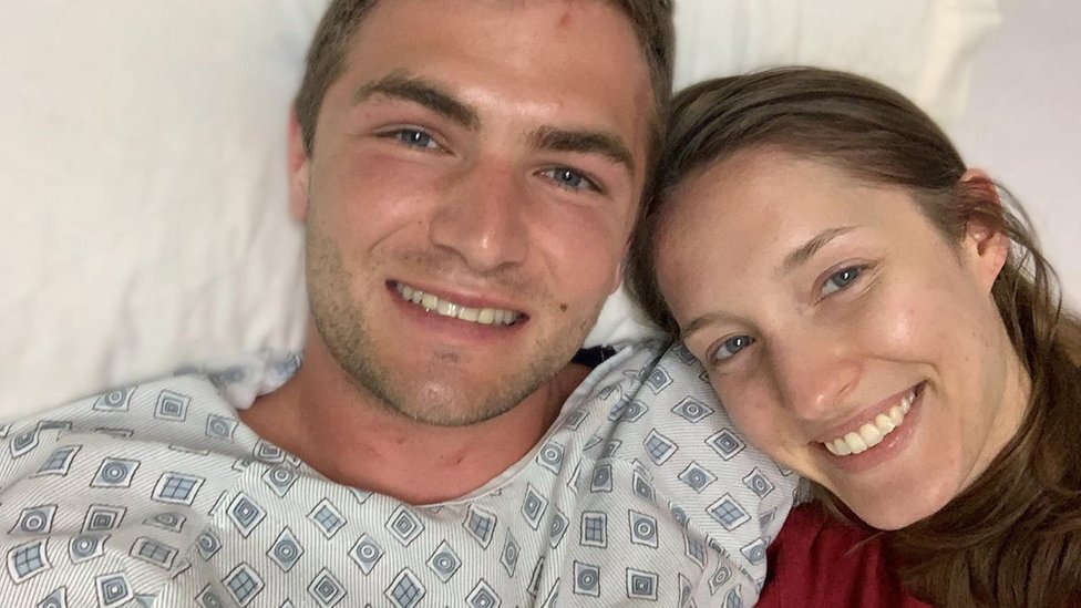 the couple in hospital