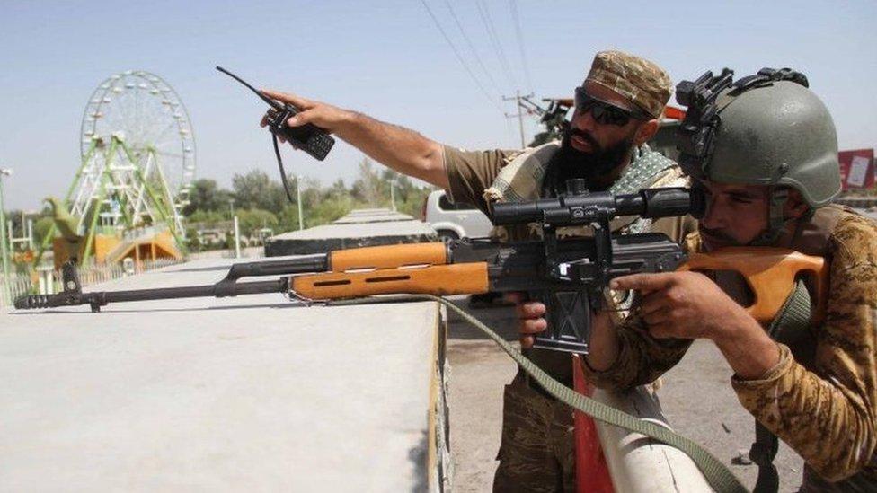 مقاتلون في أفغانستان