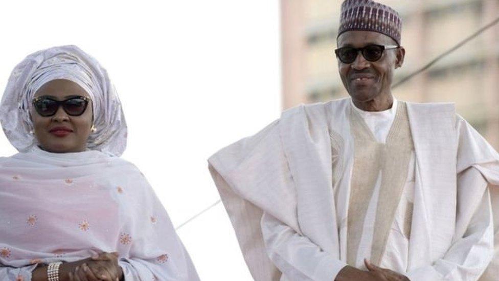 الرئيس محمد بخاري وزوجته عائشة