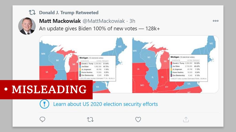 Misleading Michigan voting map