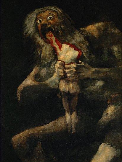 """""""Saturno devorando a su hijo"""", cuadro de Francisco de Goya"""