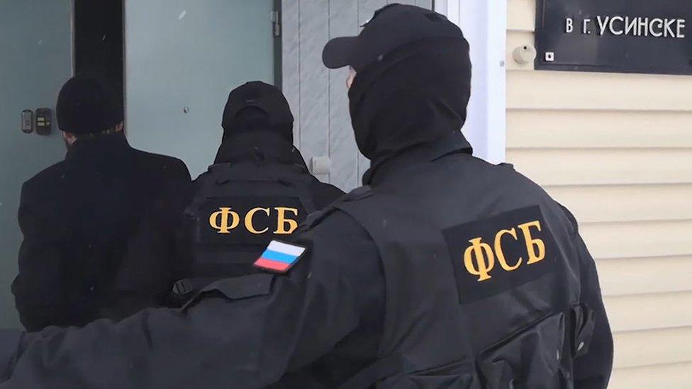 قوات من وكالة الأمن الفيدرالي في روسيا. صورة أرشيفية