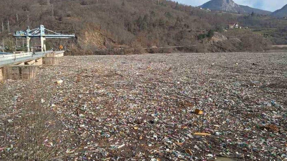 reka, otpad, Lim, Priboj