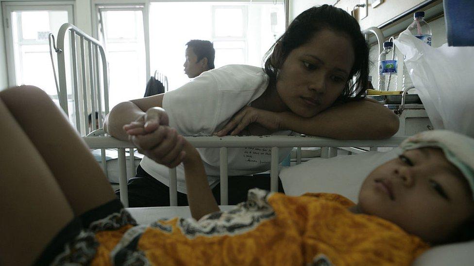 Un paciente de malaria