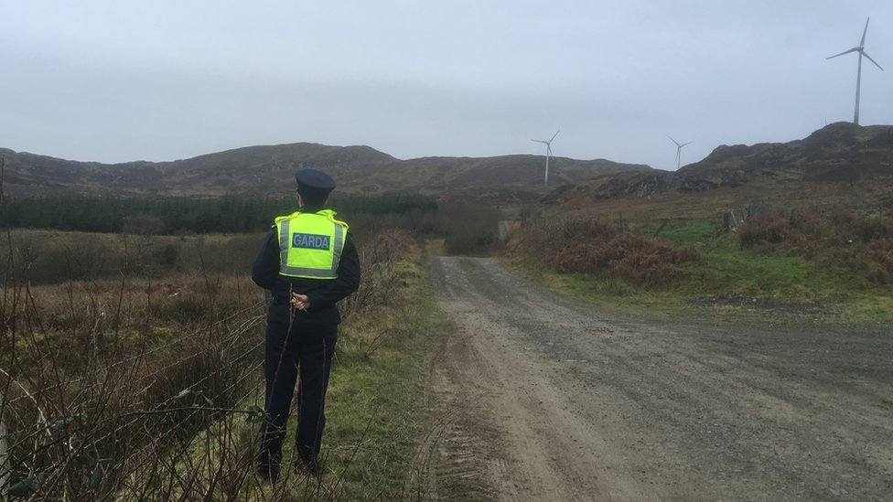 The searches are taking place on land between Rathmullan and Kerrykeel