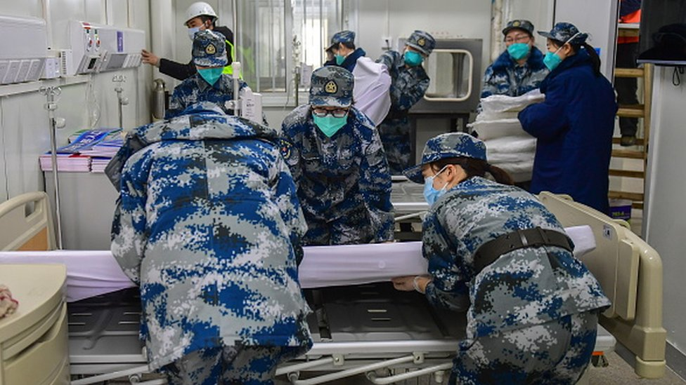 Women played a key role in the construction of the Huoshenshan Hospital in Wuhan