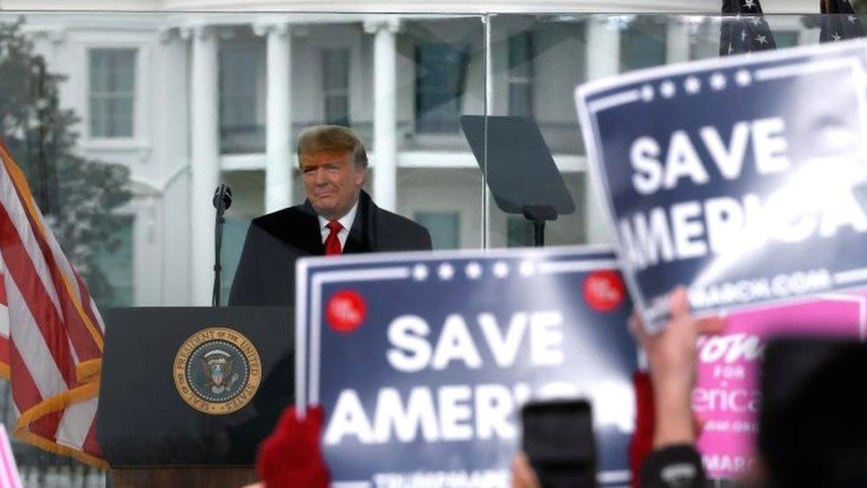 دونالد ترامب يخاطب أنصاره في 6 يناير/كانون الثاني