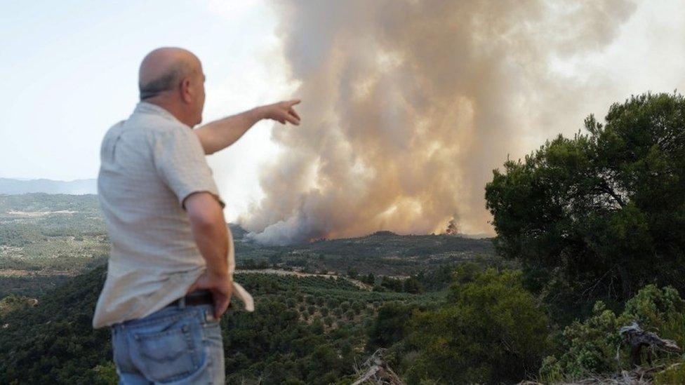 Cataluña sufre un incendio devastador.