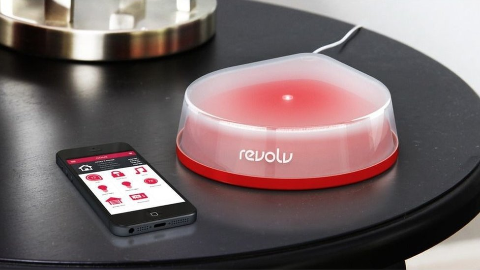 Revolv device and smartphone