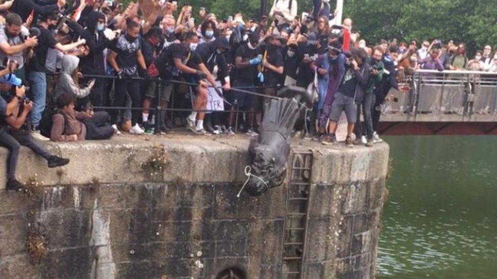 Colston statue thrown into docks