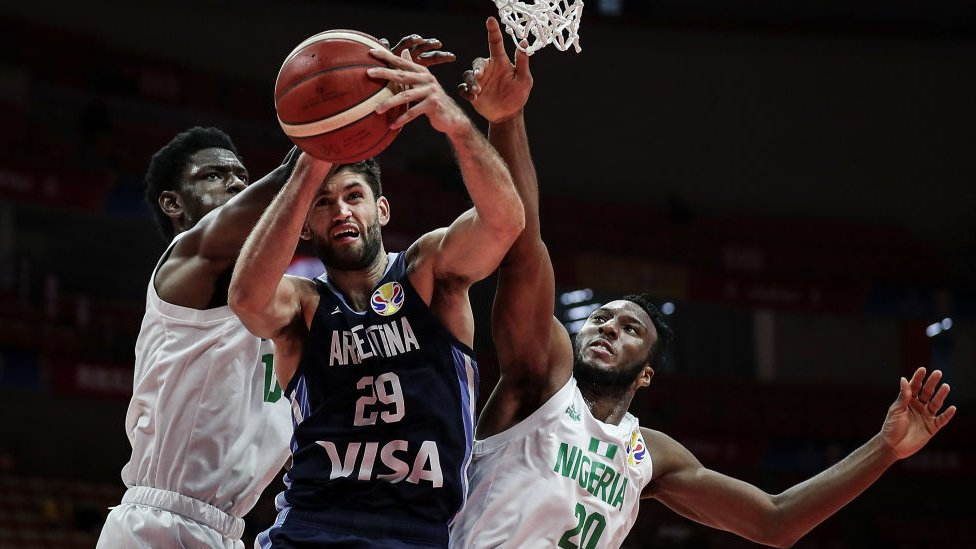 場阿根廷對尼日利亞籃球世界杯