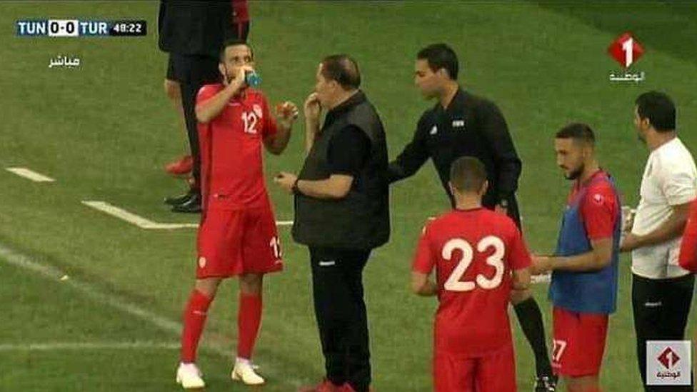 Ali Maaloul drinks water