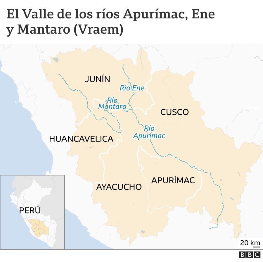 Mapa Vraem