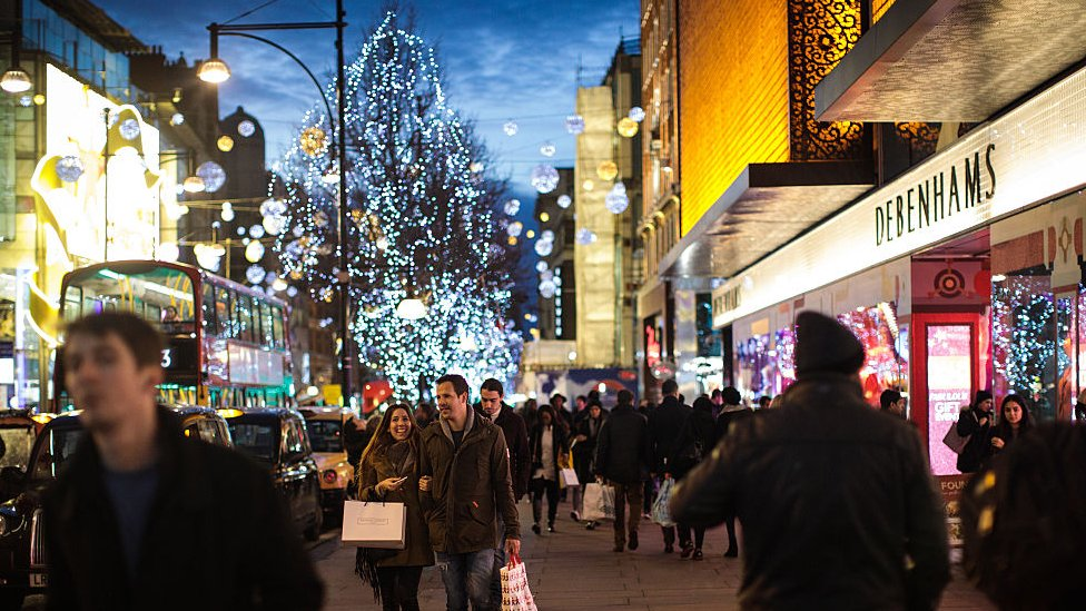 Oxford Street at Christmas