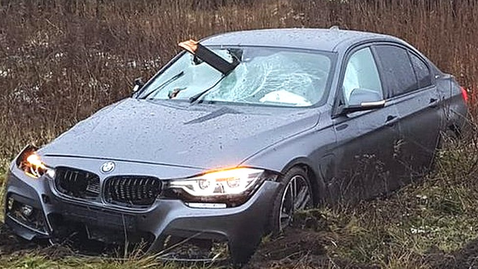 Woodhead Pass crash: Driver 'lucky' to escape skewered car