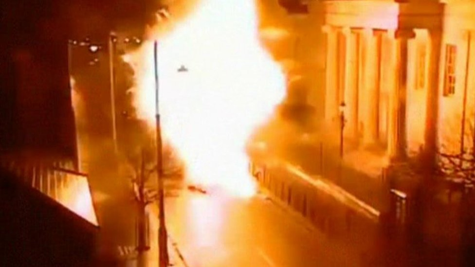 Bomb detonating in Londonderry