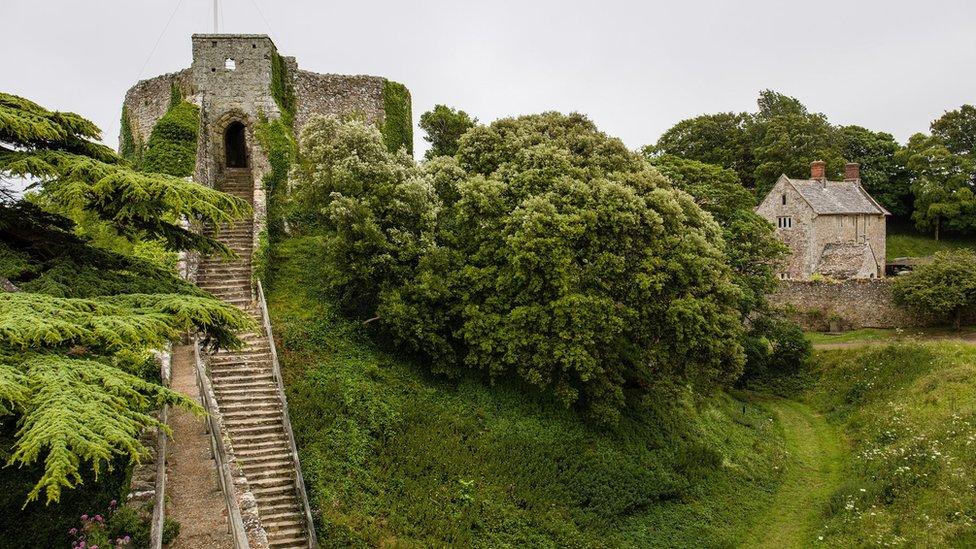 Carisbrooke Castle, on the Isle of Wight