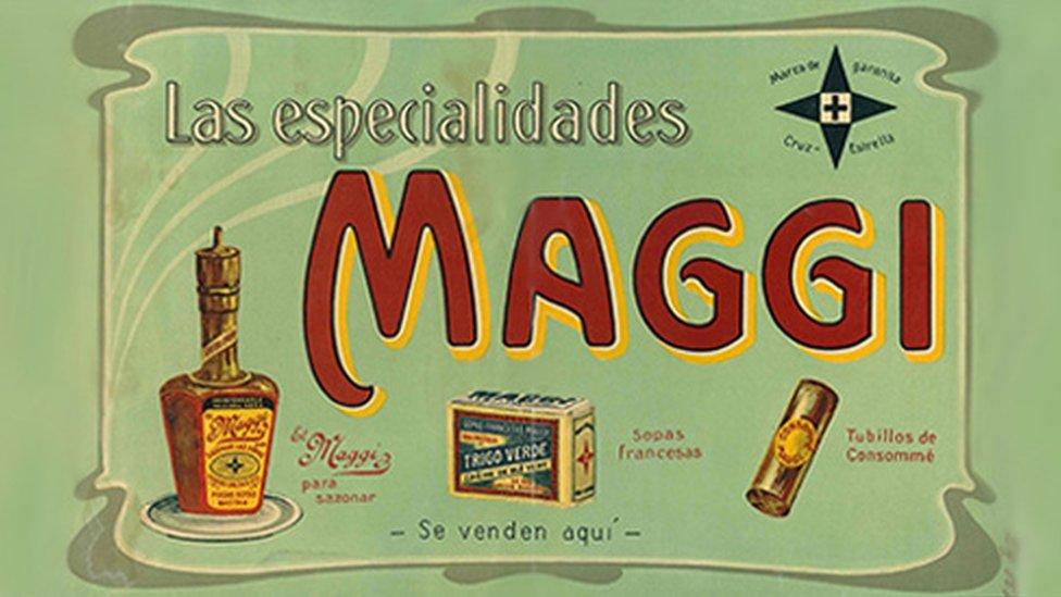 Publicidad de Maggi a inicios del siglo XX.
