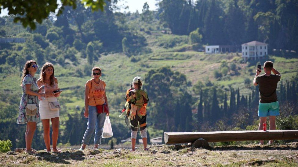 Turistы v Abhazii