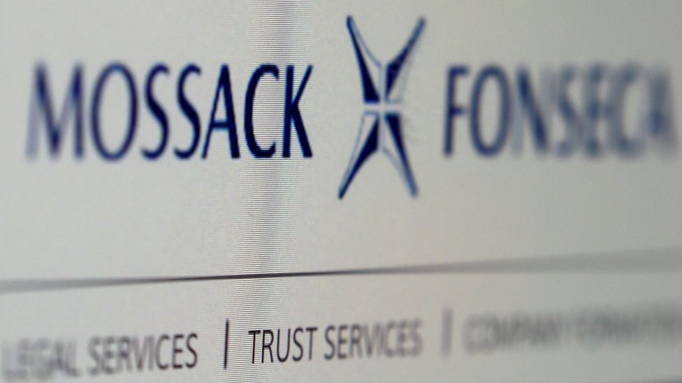 A photo of the website of the Mossack Fonseca law firm