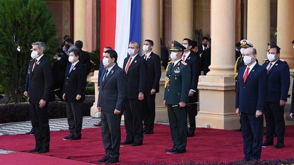 Cerimônia do governo do Paraguai