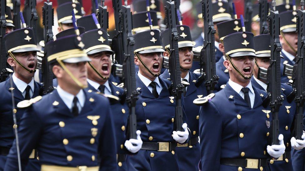 Cadetes del Colegio Militar