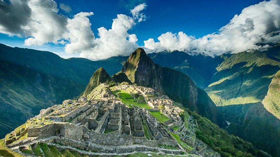 Ruinas de Machu Pichu, Perú.