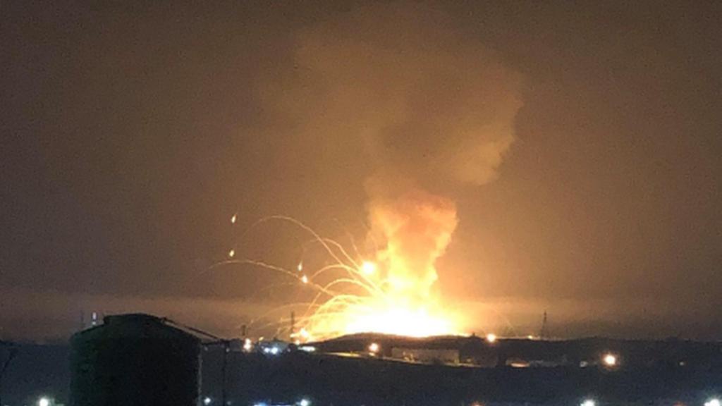 انفجار ضخم يهز مدينة الزرقاء في الأردن