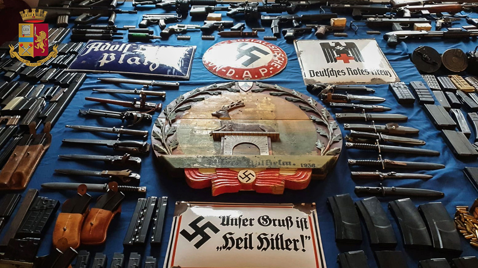 Nazi memorabilia and weapons