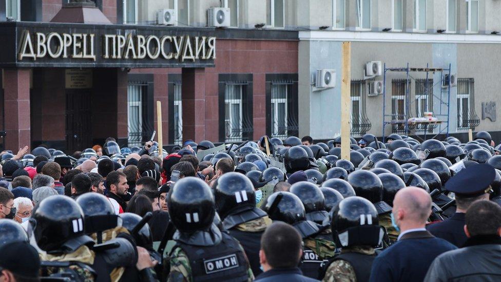 Митинговавшим против ковидных ограничений во Владикавказе дали от пяти до 5,5 лет колонии