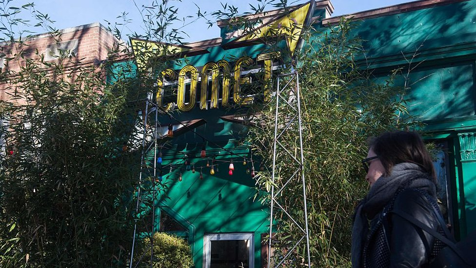 BBC / NO USAR  La pizzeria Comet Ping Pong, en Washington.