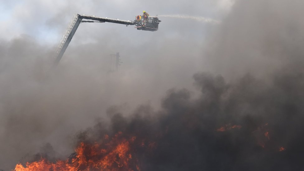 Scene of fire