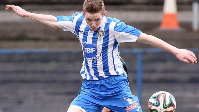 Coleraine's Jamie McGonigle scored an injury-time winner against Ballinamallard United