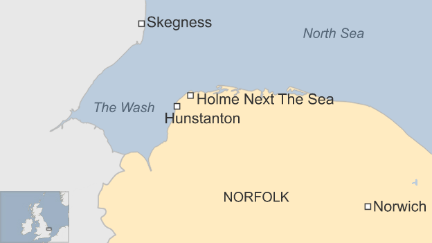 Map of the north-west Norfolk and Lincolnshire coast