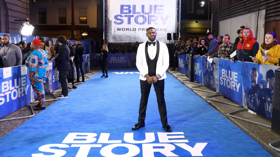 Rapman at the Blue Story premiere at Curzon Cinema Mayfair on 14 November