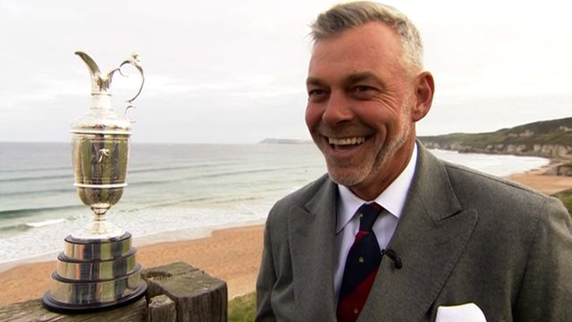 Northern Irish golfer Darren Clarke speaks about the Open Championship being hosted at Royal Portrush