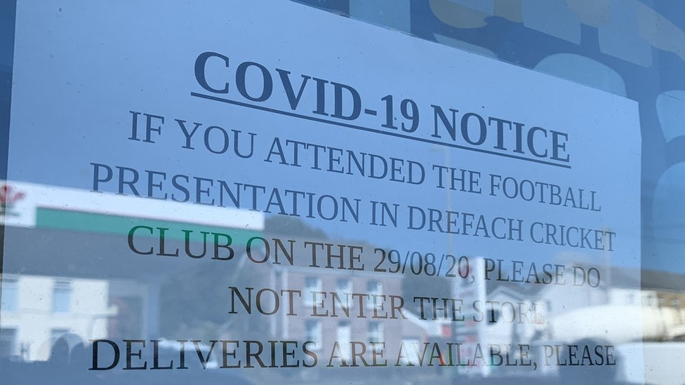 Signs placed on the club