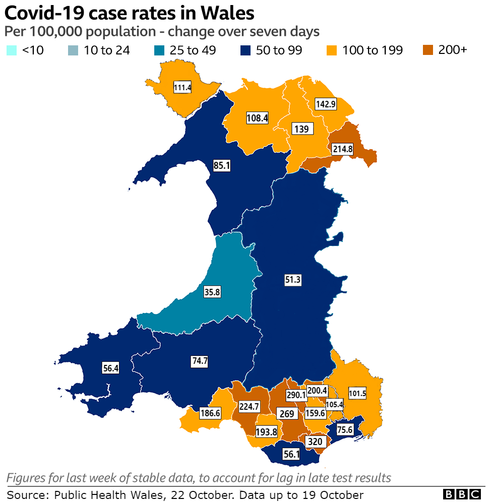 Case rate map