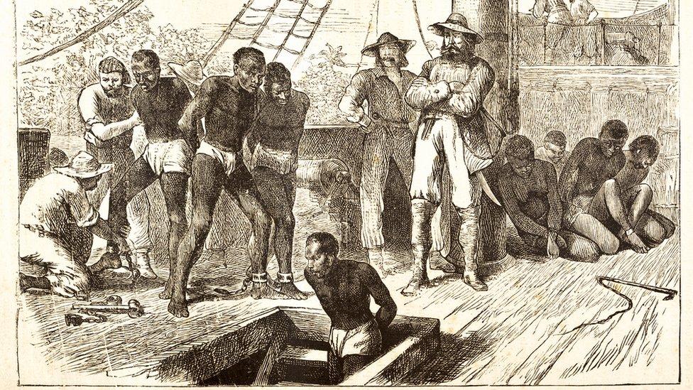 Ilustración de un barco de esclavos de 1881