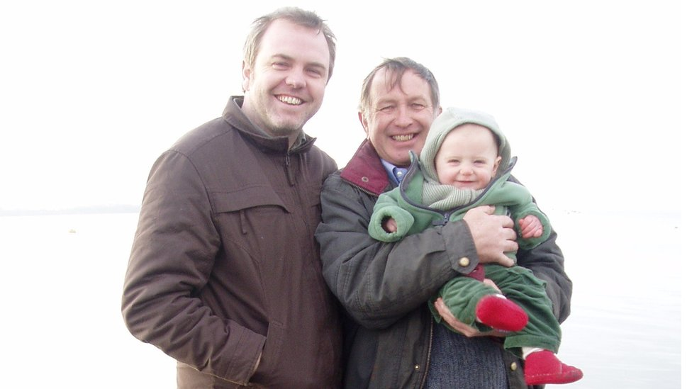 Richard and Andrew Latcham and grandson